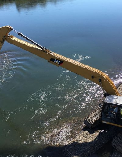 Cat-tractor-gravel-relocation-Corvallis-Taylor-Water-Treatment-Plant-Corvallis-Oregon