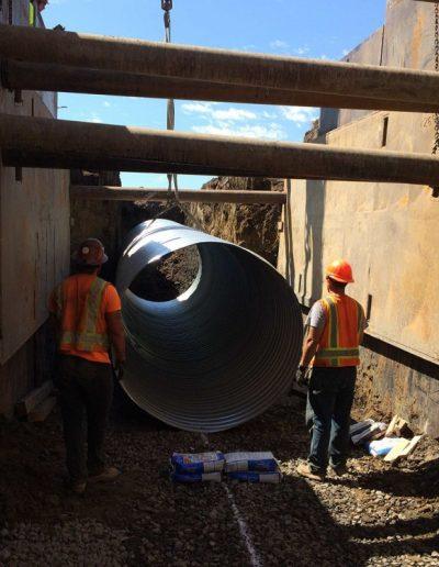 pipe-construction-ODOT-Kinsman-Road-Project-Oregon