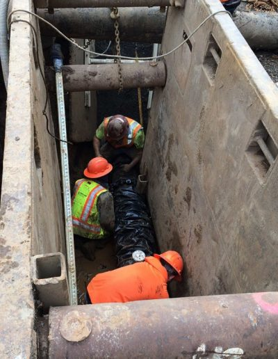 Construction-crew-secure-ditch-Oldham-Meadows-Subdivision-Beaverton-Oregon
