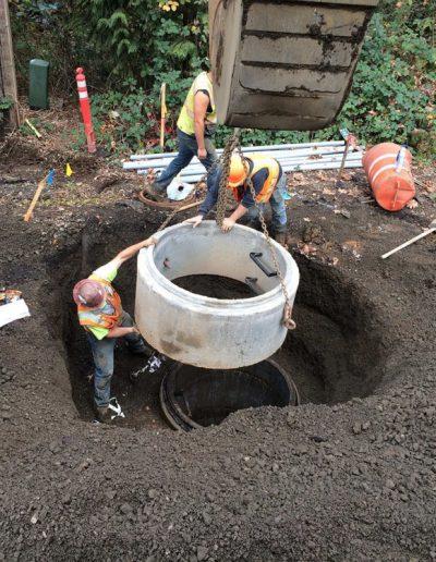 cement-pipe-placement-Oldham-Meadows-Subdivision-Beaverton-Oregon