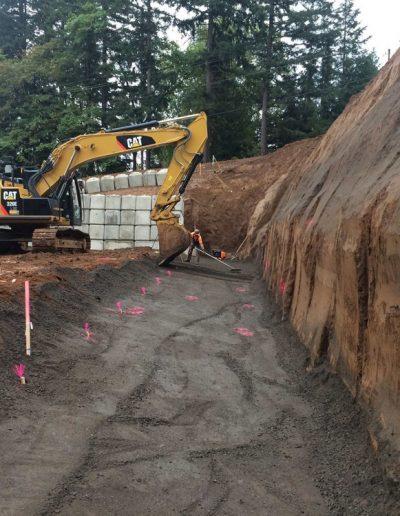 Cat-Tractor-construction-Oldham-Meadows-Subdivision-Beavertion-Oregon